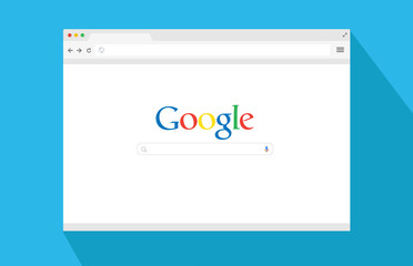 Google Search Bar. Browser window. Search in flat style. Vector stock