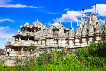 Ranakpur Temple is one of the largest and most important temples in Jain culture. Rajasthan, India