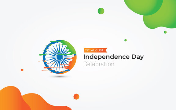 15th August Indian Independence Day Celebration Greeting Background Design Template