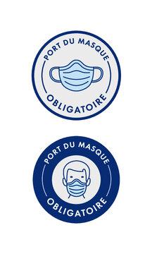 Port du masque obligatoire - COVID-19