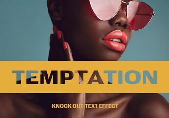 Knock Out Text Effect Mockup