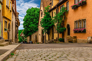 Rothenburg ob der Tauber, old medieval town in Germany near Nuremberg