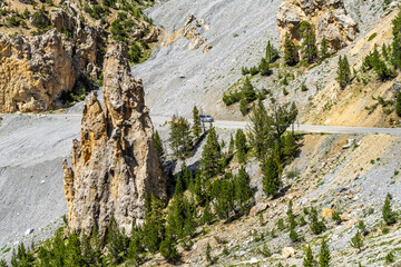 The dramatic scenery know as the Casse Desert at the Col d'Izoard, Huates Alpes, France