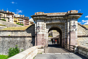 Embrun gate is one of the gates entrance to Briancon, a fortified town in the heart of the French Alps