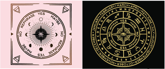 A magical tool to use along with your own pendulum or crystals when seeking answers from your intuition or spirit guides. Our divination mat is unique in that it includes the symbols of the astrologic