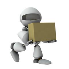 届け物を運ぶ人工知能のロボット