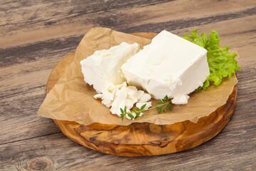 Greek traditional Feta soft cheese