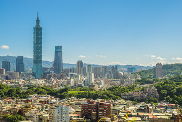 Panoramic view of Taipei City in taiwan
