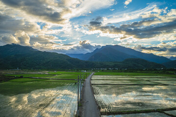 scenery of dongli township in hualien, taiwan