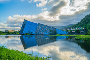 July 15, 2020: Scenery of Lanyang Museum in Yilan county, Taiwan. The Main building was designed by a team led by Kris Yao, and the design was inspired by the cuestas seen along Beiguan Coast.