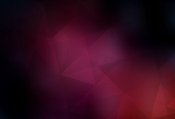 Dark Pink vector abstract mosaic background.