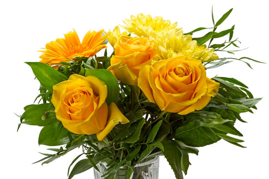 Bouquet with yellow flowers
