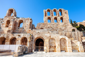 Fototapete - Odeon of Herodes Atticus at Acropolis of Athens, Greece