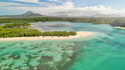 Mauritius Island. Aerial view of beautiful landscape from drone