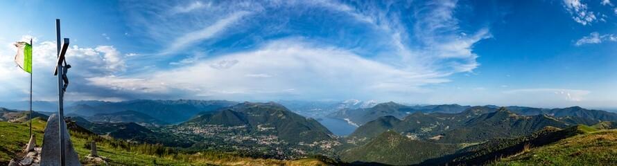 Landscape of Lake Como from Valle Intelvi