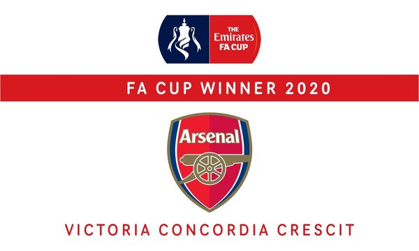 Illustration of FA Cup Winner 2020 for editorial use. Arsenal The Emirates FA Cup Champion.
