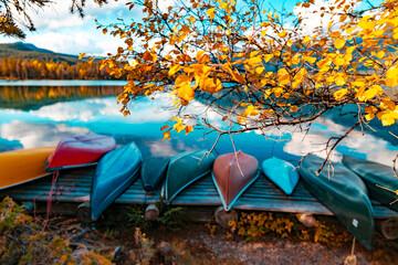 Autumn Fall Lake Mountain Recreation