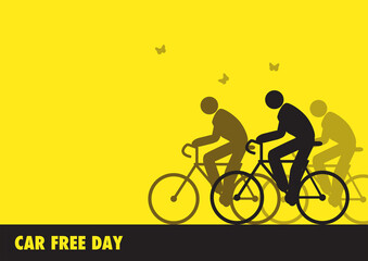 Illustration for World Car Free Day awareness