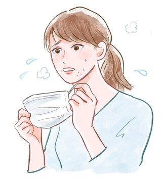 マスク 女性 肌荒れ 悩み 顎ニキビ メイク崩れ