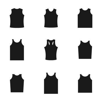 Set of different shirts, vector illustration.