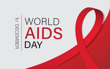 world aids day vector illustration.