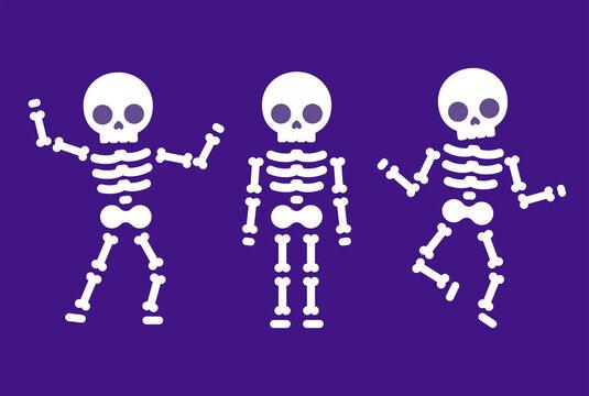 Cartoon dancing skeleton