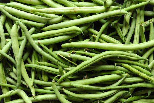 Photograph of green bean / The green bean also called green bean is a variety of fleshy bean in pods that can reach a length of 15 cm