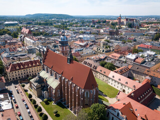 Corpus Christi Church in Kazimierz. Aerial shot