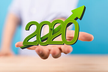 the 2020 business year up goals and success illustration