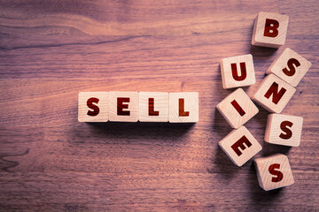 Sell business concept