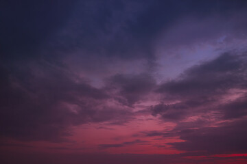 Dark red-violet sky at sunset as a backdrop