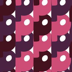 Fototapeta Vector seamless pattern of lower case letter P of English alphabet in pink tones obraz