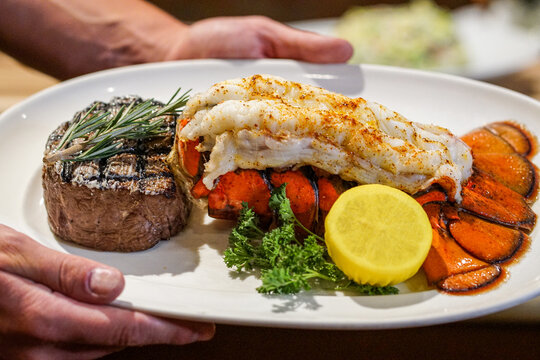 Surf and Turf - Lobster and Steak