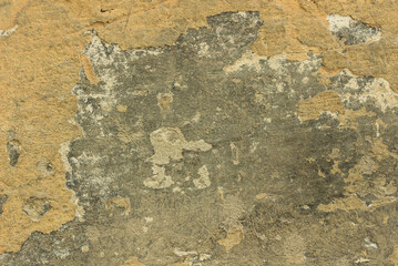 Fotobehang Oude vuile getextureerde muur Background grey old rusty plastered wall