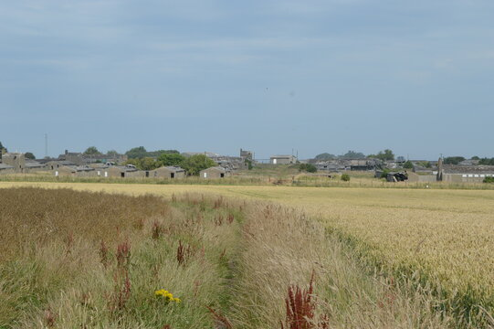 Derelict First and Second World War military airbase at Crail, Fife, Scotland