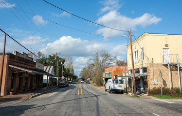 Chappell Hill, Texas, United States of America - December 27, 2016.  Main street in Chappell Hill, Texas