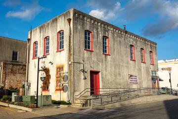 Brenham, Texas, United States of America - December 27, 2016.  Historic building in Brenham, TX.