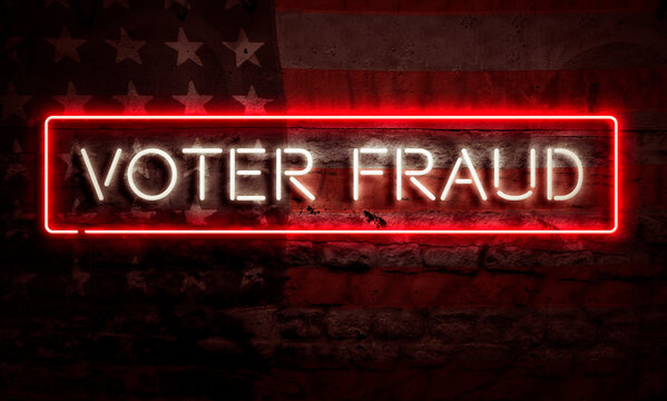 Voter Fraud Sign American Primary Presidential Election Democracy Concept USA