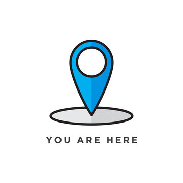 You are here sign icon design. vector illustration