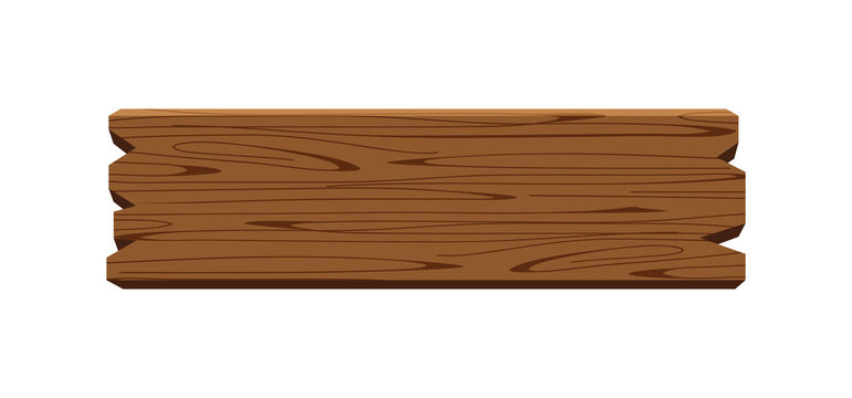 plank signage, wooden plank dark brown isolated on white, wood board horizontal old, empty planks wood, wooden sign for copy space text, wood plank for signage, wood plank cartoon style