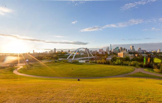 Edmonton Skyline at Sunset