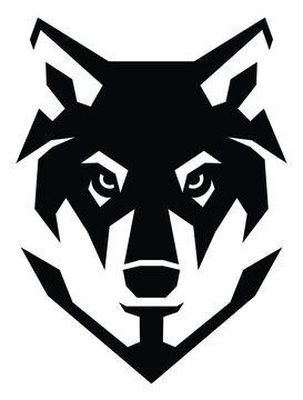 Simple Wolf Head Minimalism Style