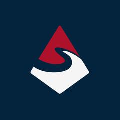 mountain s logo creative concept
