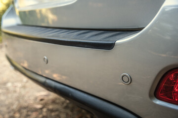 Rear parking sensors of a luxury car