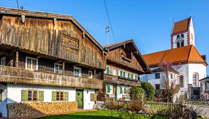 Wall Mural - landscape and village wackersberg