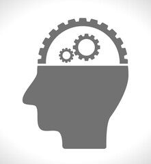 head with gears icon