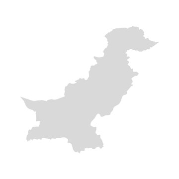 Pakistan vector map. Afghanistan kashmir east country map illustration