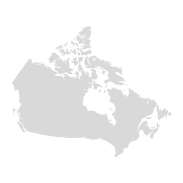 Canada vector map state. Canada territory map country border