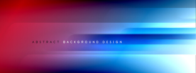 Motion concept neon shiny lines on liquid color gradients abstract backgrounds. Dynamic shadows and lights templates for text Wall mural