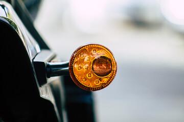Close-up Of Clock On Car